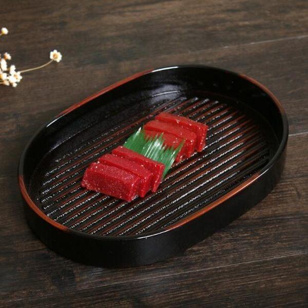 烤盤ABS塑料橢圓形刺身盤燒烤盤水果盤蔬菜托盤·樂享生活館