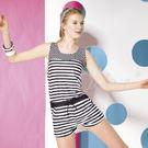 ☆小薇的店☆梅林品牌【條紋點點拼接】時尚二件式泳裝特價990元NO.M5474(M-EL)