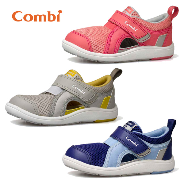 Combi 康貝 Core-S成長機能涼鞋C02-粉/灰/藍【佳兒園婦幼館】