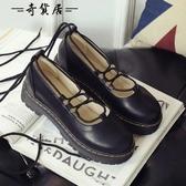 秋季日系原宿洛麗塔lolita軟妹 公主鞋cos女鞋厚底系帶鬆糕娃娃鞋