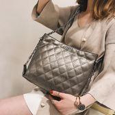 包包女正韓鏈條女包菱格單肩包百搭時尚簡約大容量女包側背包