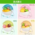 達派屋創意圓形帶蓋現代水果籃糖果色客廳裝飾時尚果盤水果收納籃 【618特惠】