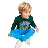 Gap男幼童棉質舒適套頭長袖T恤522805-深綠色