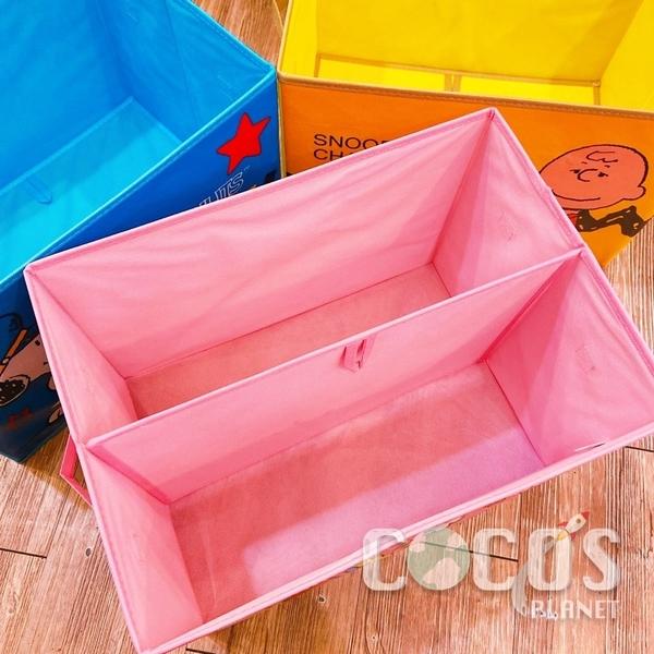 正版 SNOOPY 史努比 史奴比 橫式不織布收納箱 摺疊置物箱 車用置物籃 收納箱 海軍款 COCOS DE150