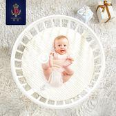 嬰兒床 實木白色 歐式多功能圓床 環保可變書桌