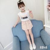 夏季時髦兒童套裙女童兩件式洋裝2019新款時尚洋氣中大童薄款連身裙 CJ3831『易購3c館』