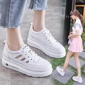 增高鞋 內增高小白鞋女2021年春季新款百搭厚底休閒鞋子女鞋學生板鞋帆布 夏季狂歡