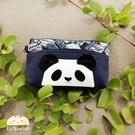 化妝包~雅瑪小舖日系貓咪包 熊貓造型化妝包/護照夾/收納袋/拼布包包