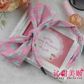髮箍 可彎可調角度 蝴蝶結 日韓頭飾居家小物  - 彩糖心願(粉藍愛心) -沁甜美姬