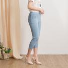 【中大尺碼】MIT蕾絲口袋牛仔中褲...