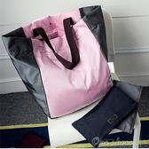 大容量可折疊便攜購物袋超市購物包環保袋單肩女手提袋帆布袋買菜one shoes