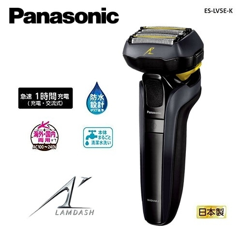【佳麗寶】-加入購物車驚喜價(Panasonic 國際牌)日本製5D刀頭電動刮鬍刀 ES-LV5E-K 父親節禮物