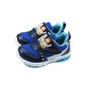 角落小夥伴 電影版 運動鞋 電燈鞋 深藍色 魔鬼氈 中童 童鞋 SIKX19106 no749