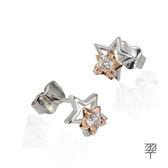 【LECRIN翠屋珠寶】優雅D:0.12克拉鑽石耳環