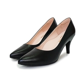 MICHELLE PARK  ‧羊皮尖頭素面中跟鞋〈黑〉