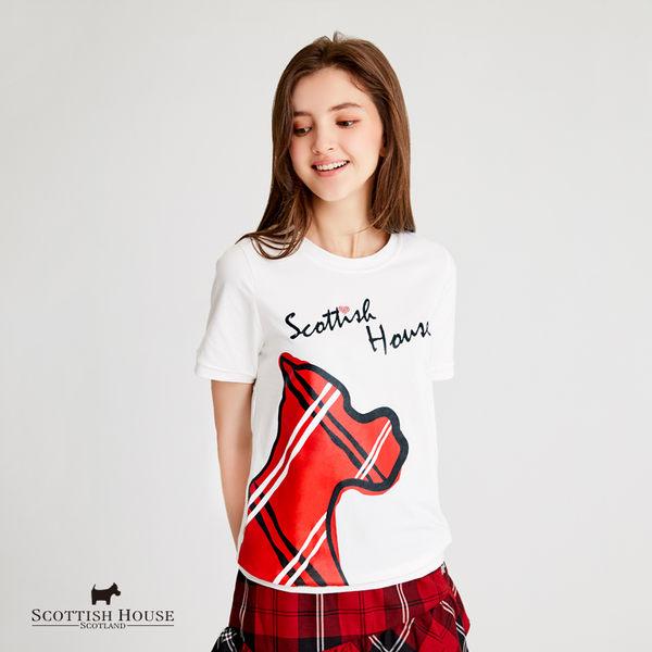 手繪風大狗棉T Scottish House【AH1252】