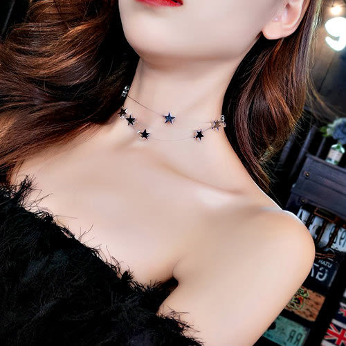 克妹Ke-Mei【AT53971】採購手提帶回 初秋時髦感愛心珍珠皮麂頸鍊