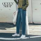 Queen Shop【04011367】車線剪接造型設計牛仔褲 S/M/L*現+預*