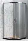 【麗室衛浴】B-032 圓弧型拉門四片式(強化玻璃)90*90*185