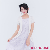【RED HOUSE 蕾赫斯】透膚條紋小外套(白色) 任選2件899元