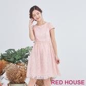 【RED HOUSE 蕾赫斯】粉嫩蕾絲洋裝(粉色)