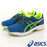 【ASICS】運動童鞋-流線藍透氣運動款-707N-4385藍(大童)