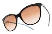 Tiffany&CO.太陽眼鏡 TF4131HB 81343B (琥珀棕-蒂芬妮綠) 奢華璀璨晶鑽小花款 # 金橘眼鏡