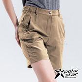 PolarStar 女 抗UV排汗彈性短褲『卡其』P18310 西裝褲│休閒褲│吸濕排汗│直筒褲│運動褲