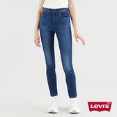 Levis 女款 721高腰緊身窄管牛仔長褲 / 義大利CANDIANI頂級丹寧 / 精工深藍染水洗 / 彈性布料