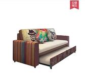 沙發床可折疊客廳雙人三人小戶型單人多功能簡約現代布藝推拉兩用 麥田家居館