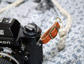 手工編織 亞麻相機背帶-棕色【日本ROBERU】適微單眼相機