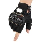 夏季摩托車全指手套透氣薄款四季騎行機車騎士防摔耐磨賽車半指男