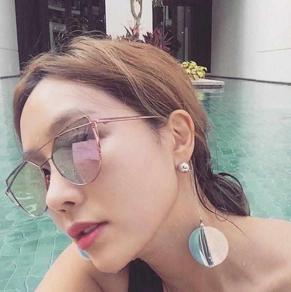 Star 日韓系列 - 多面跳色耳環.特價品 - D122