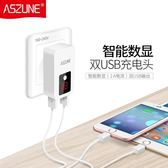 多口充電器通用6雙口USB插頭蘋果安卓2.1手機2A萬能2.4智慧3A快充 概念3C旗艦店