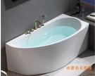 【麗室衛浴】BATHTUB WORLD YG3628 壓克力 造型缸(右/左靠牆) 150*75*60CM
