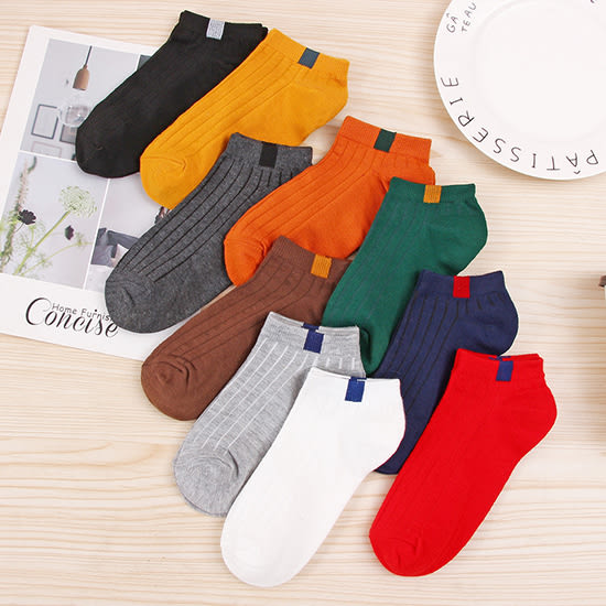 襪子 運動襪 布標 短襪 隱形襪 棉襪 船襪 情侶襪 女款 透氣 吸汗 韓款拼色 (1雙)【Z043】生活家精品