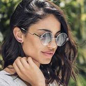 FENDI 廣告主打 復古半框圓形 太陽眼鏡 (銀色)FF0243FS