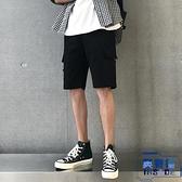 港風工裝短褲直筒五分休閑褲寬松多口袋褲子男夏季【英賽德3C數碼館】