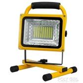LED強光充電投光燈戶外廣場應急燈停電照明露營地攤擺攤手提家用 ATF poly girl