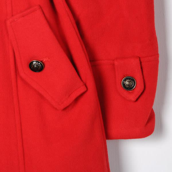 【MASTINA】貴族風雙排扣長大衣-紅色  外套限時特賣