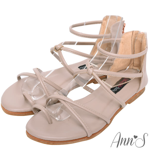 Ann'S好看的減壓柔軟羅馬平底涼鞋
