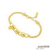 J'code真愛密碼金飾 戀愛電波黃金/水晶手鍊