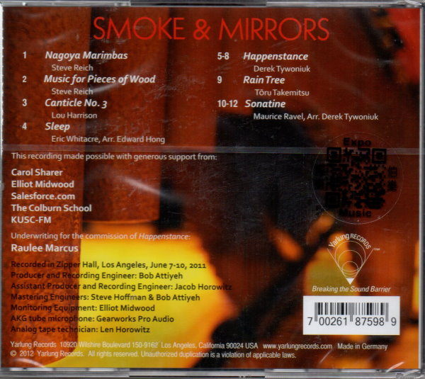 【停看聽音響唱片】【CD】SMOKE & MIRRORS:PERCUSSION ENSEMBLE