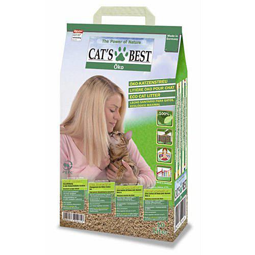 此商品48小時內快速出貨》德國凱優CATS BEST》木屑砂 藍標粗砂/綠標細砂 10L/包