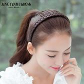 髮箍 頭箍 韓國假髮頭箍麻花辮子髮卡防滑寬邊簡約壓髮窟百搭頭飾韓版女髮箍