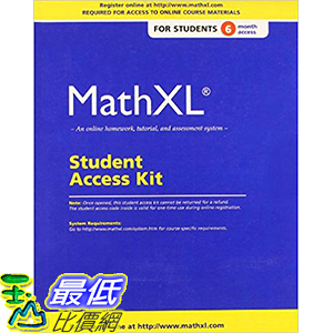 [106美國直購] 2017美國暢銷軟體 MathXL Standalone Access Card (6-month access)