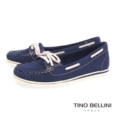 Tino Bellini巴西進口休閒工藝手感莫卡辛鞋 _ 藍 C69002  歐洲進口款