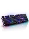 游戲電腦臺式家用發光機械手感鍵盤鼠標套裝...