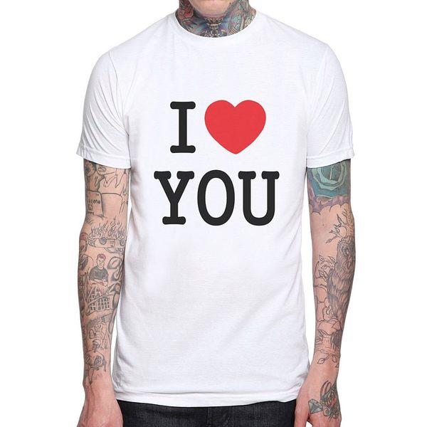 【Dirty Sweet】I Love You短袖T恤-白色 我愛你 情侶T 情人節 390