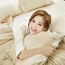床包被套組 / 雙人-獨家布蕾絲【歐姆布蕾】含兩件枕套,100%精梳棉,在巴黎遇見,戀家小舖